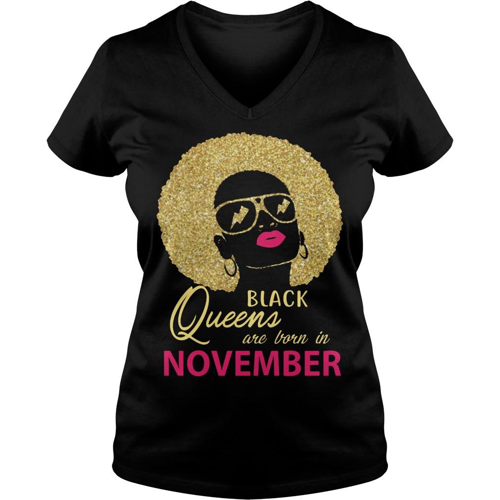 Black Queens Are Born In November V Neck