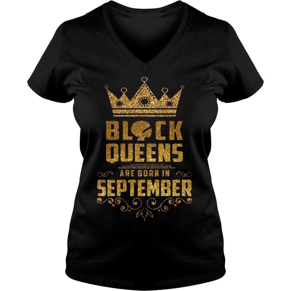 Black Queens Are Born In September V Neck