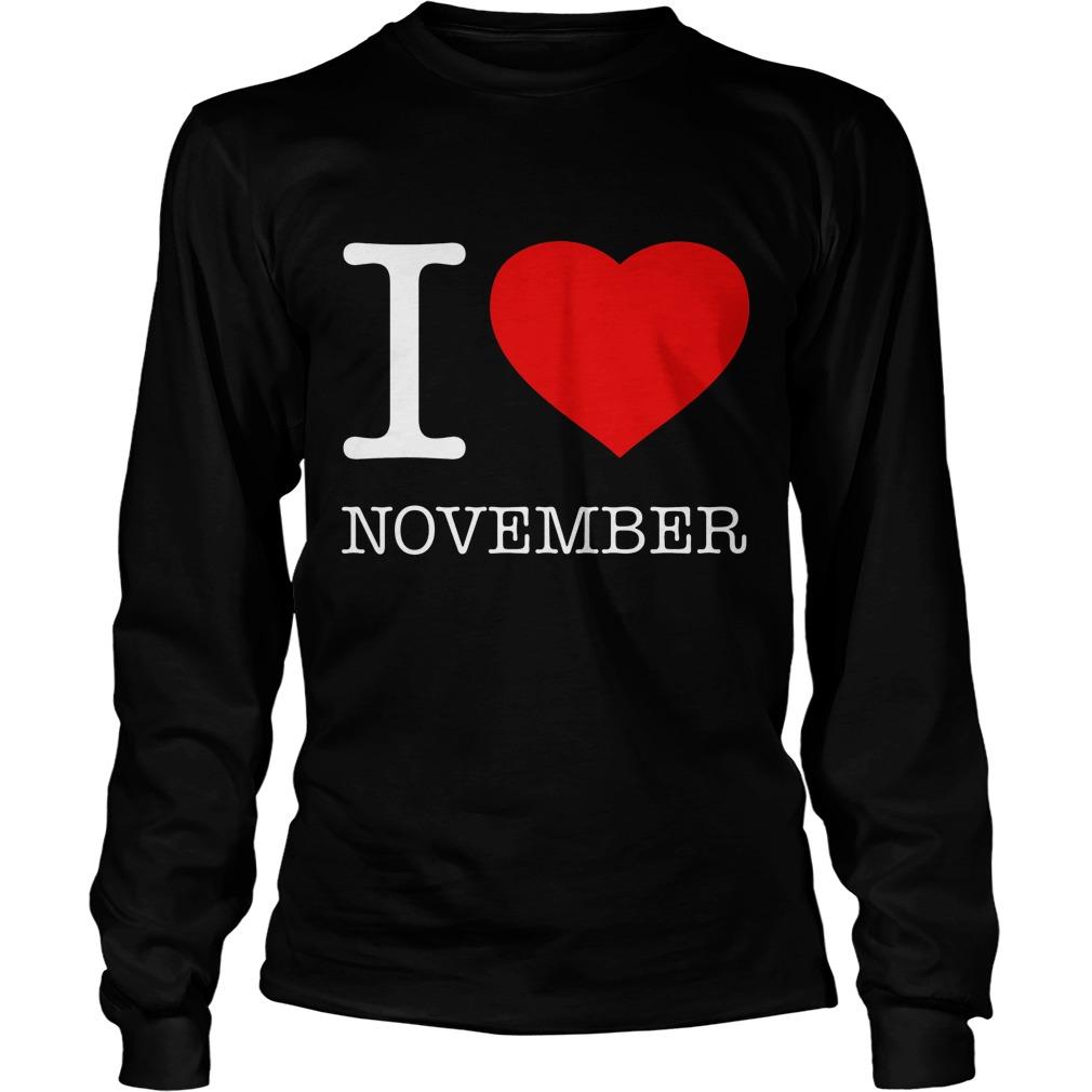 I Love November Longsleeve