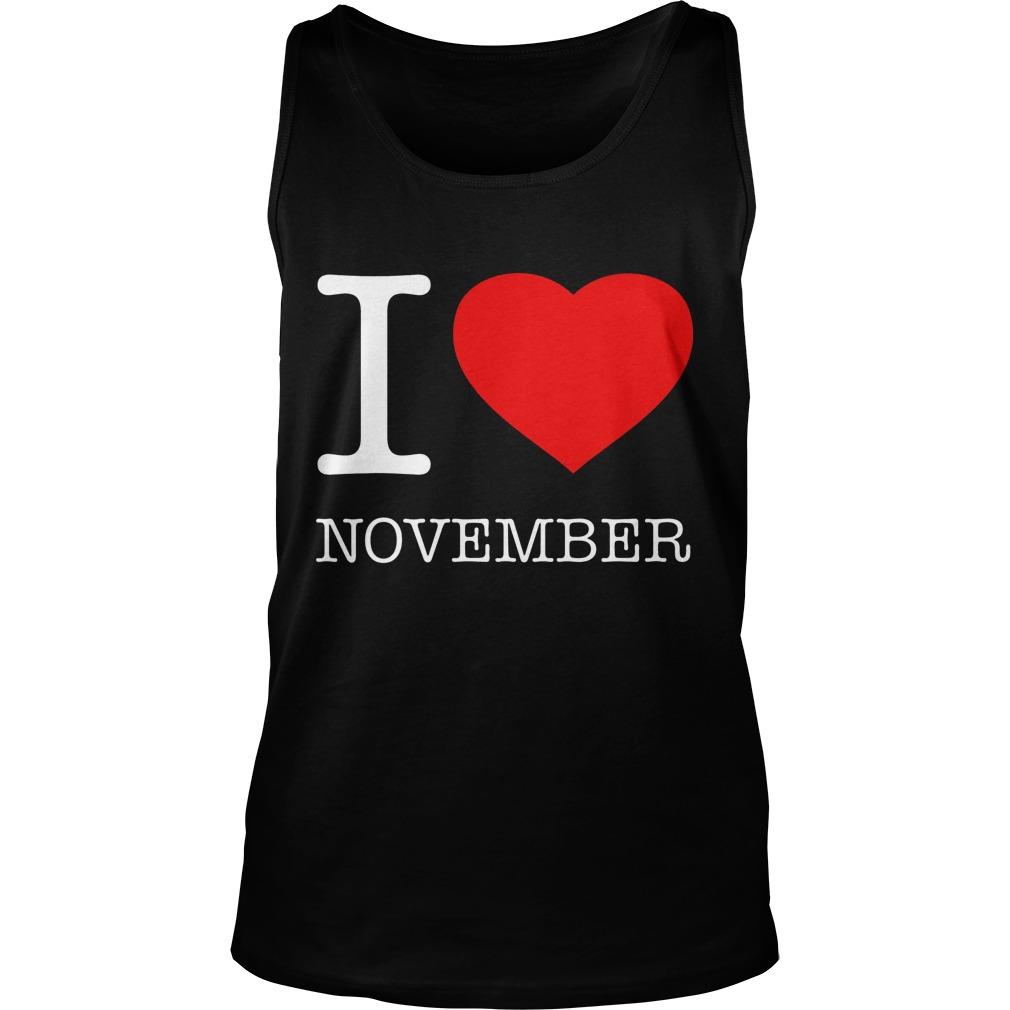 I Love November Tanktop