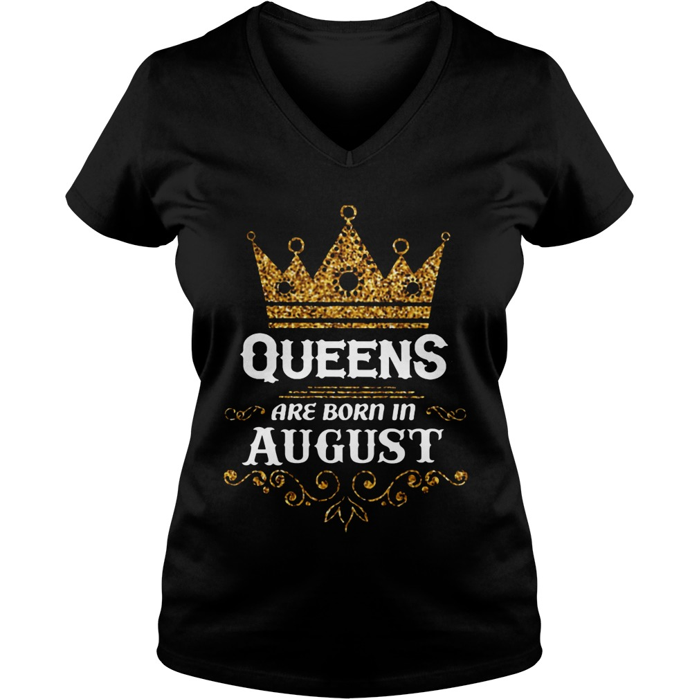 Queens Are Born In August V Neck