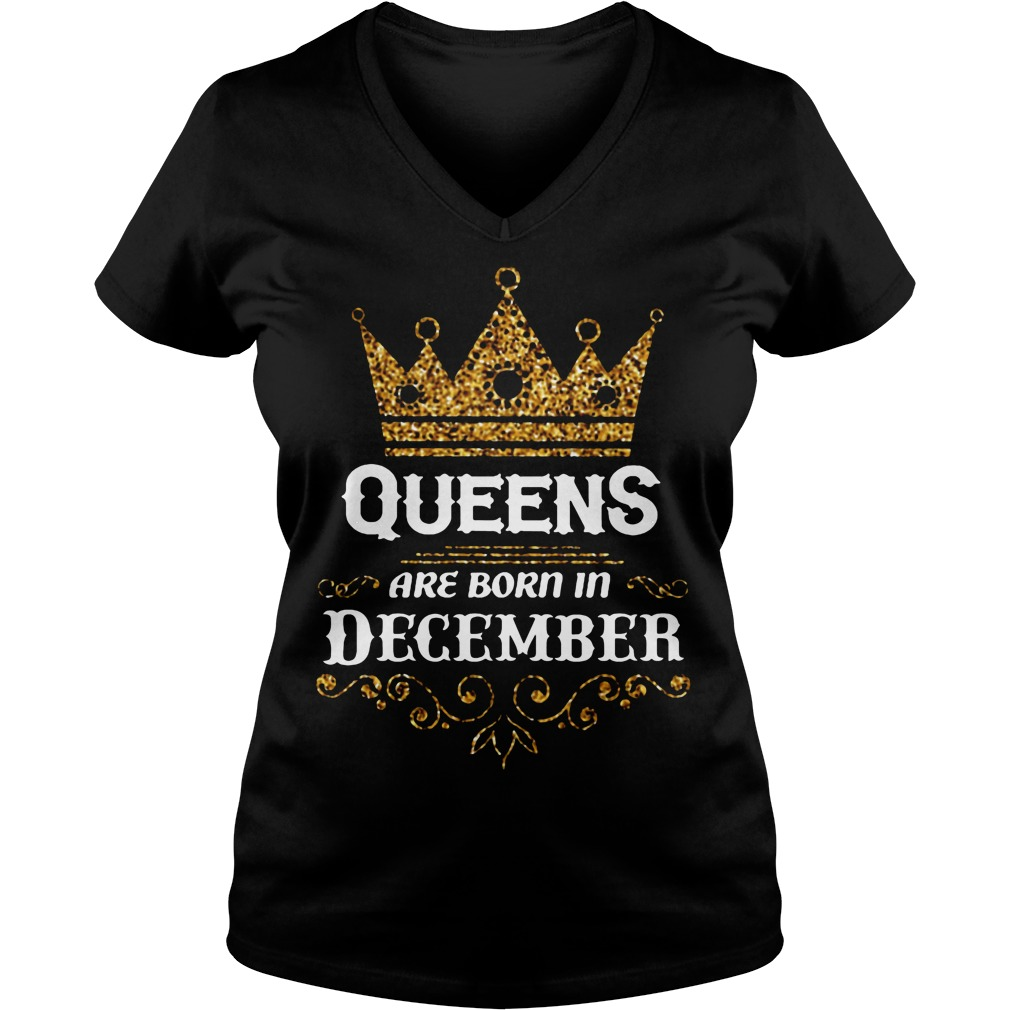 Queens Are Born In December V Neck
