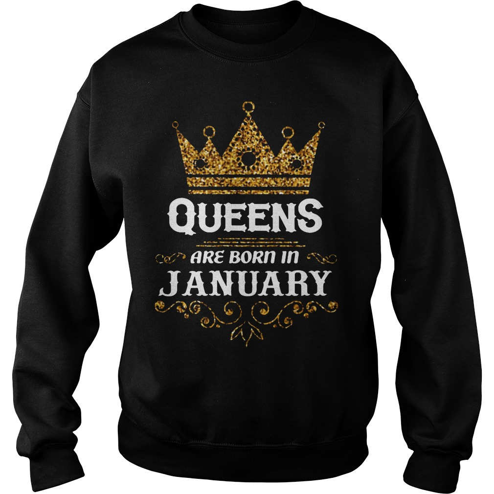 Queens Are Born In January Sweater