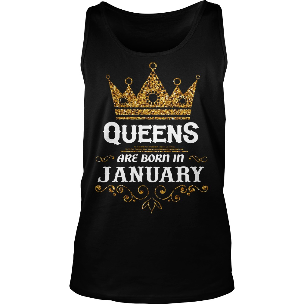 Queens Are Born In January Tanktop