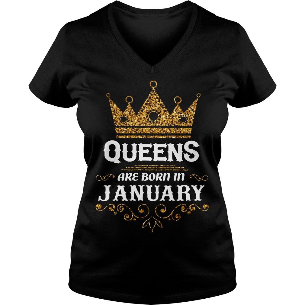 Queens Are Born In January V Neck