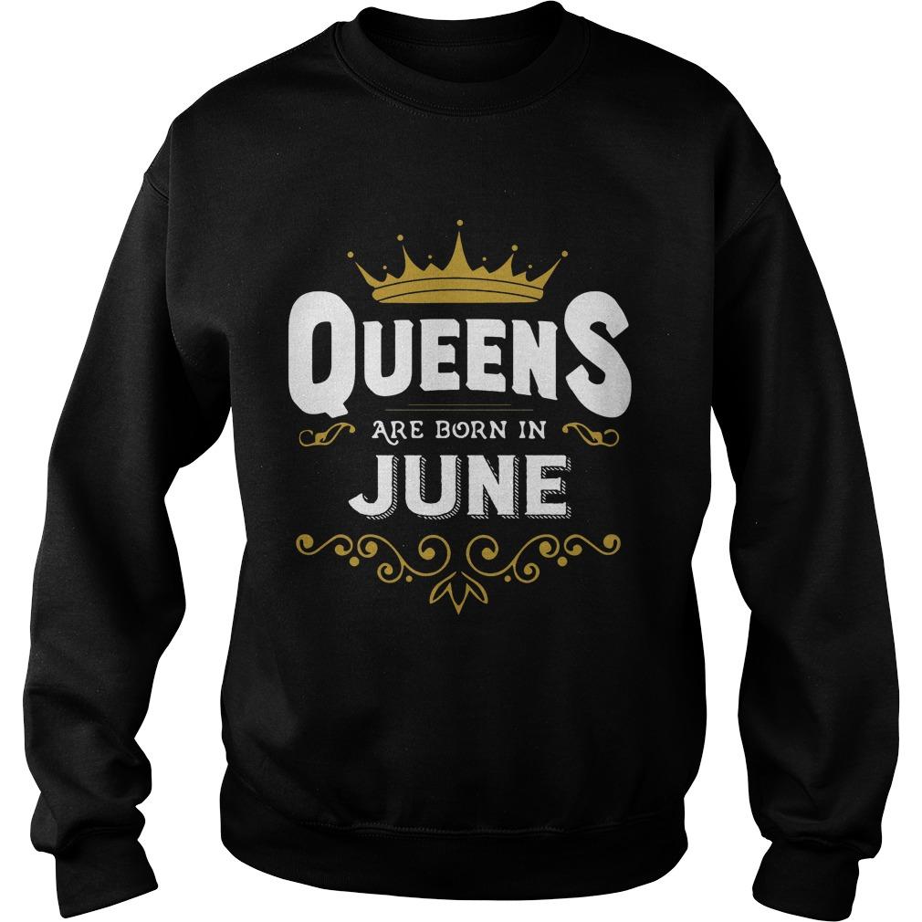 Queens Are Born In June Sweater