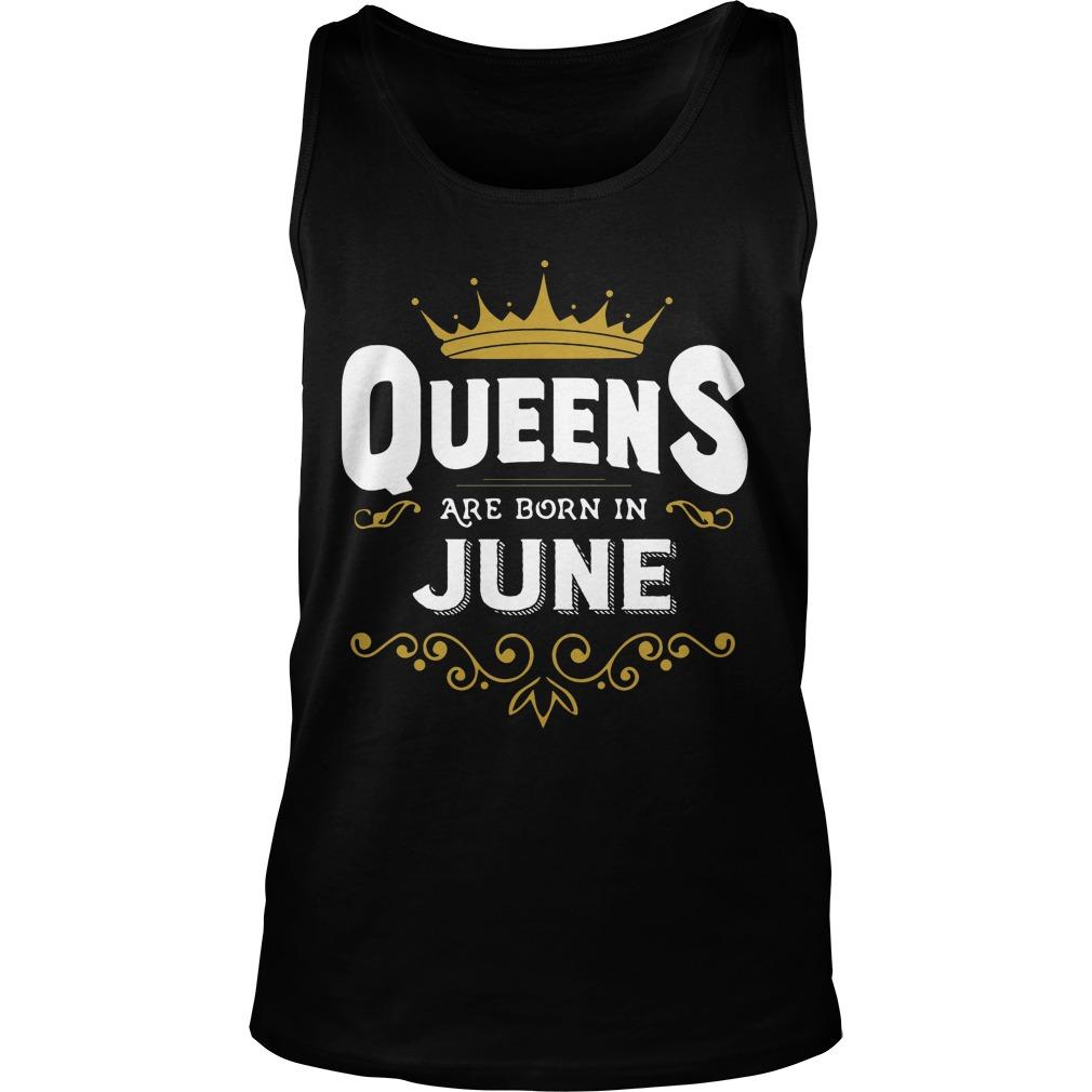 Queens Are Born In June Tanktop