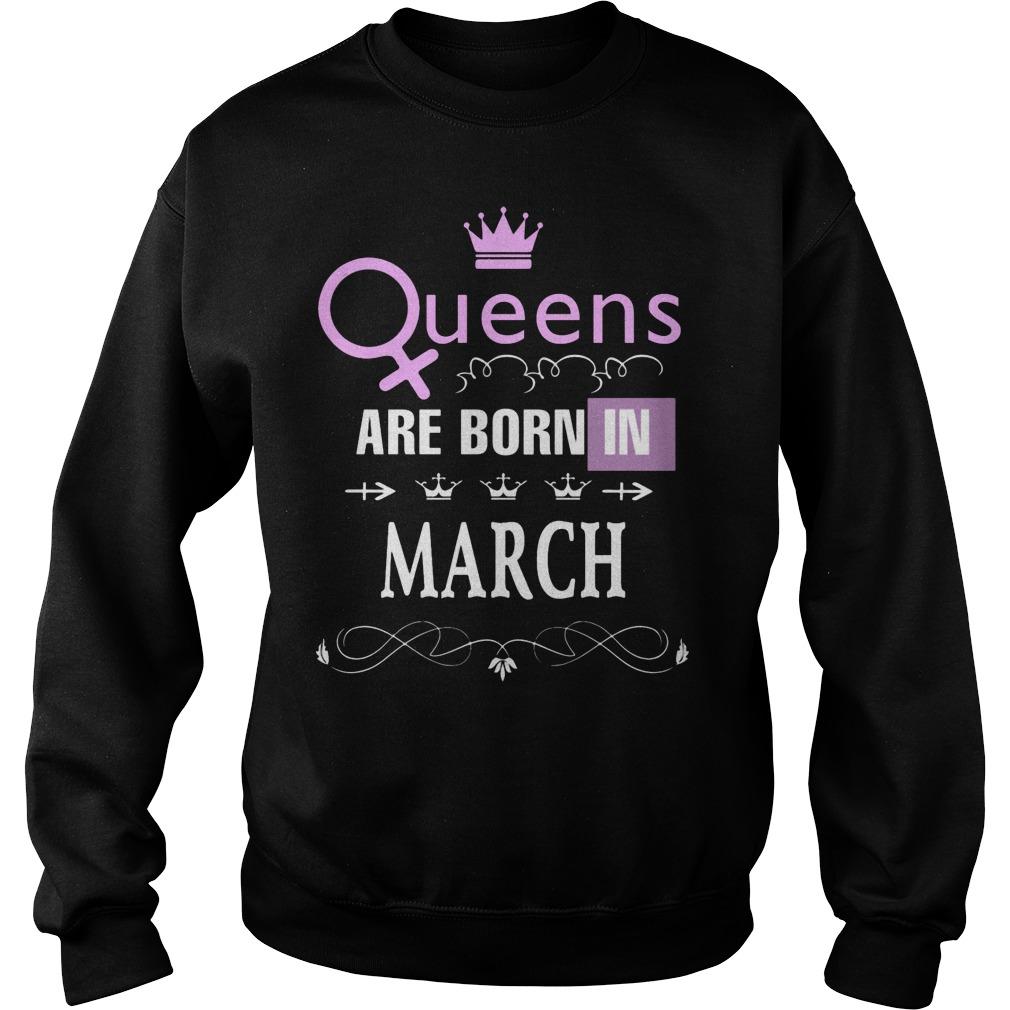 Queens Are Born In March Sweater