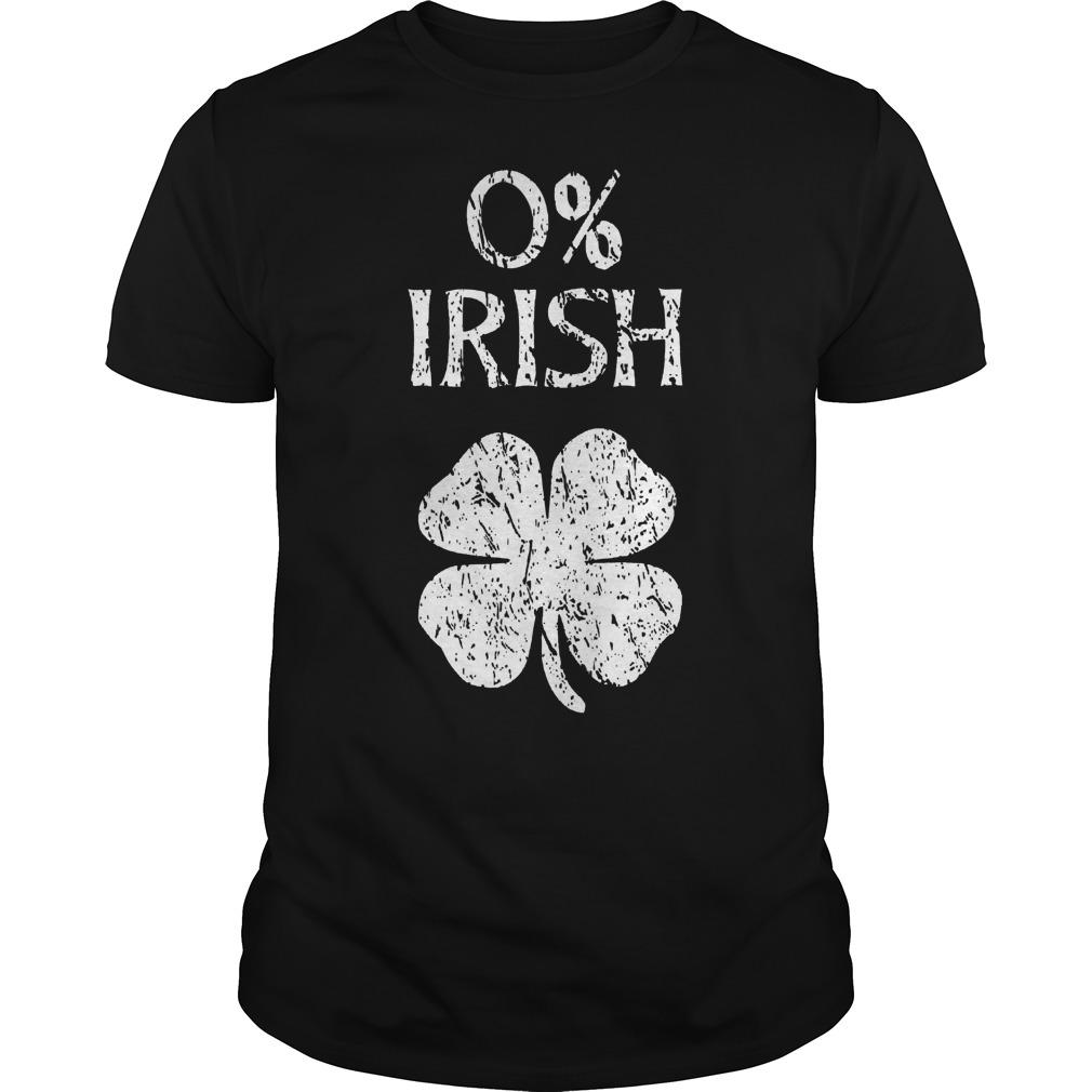 0% Irish St Patricks Day Shirt