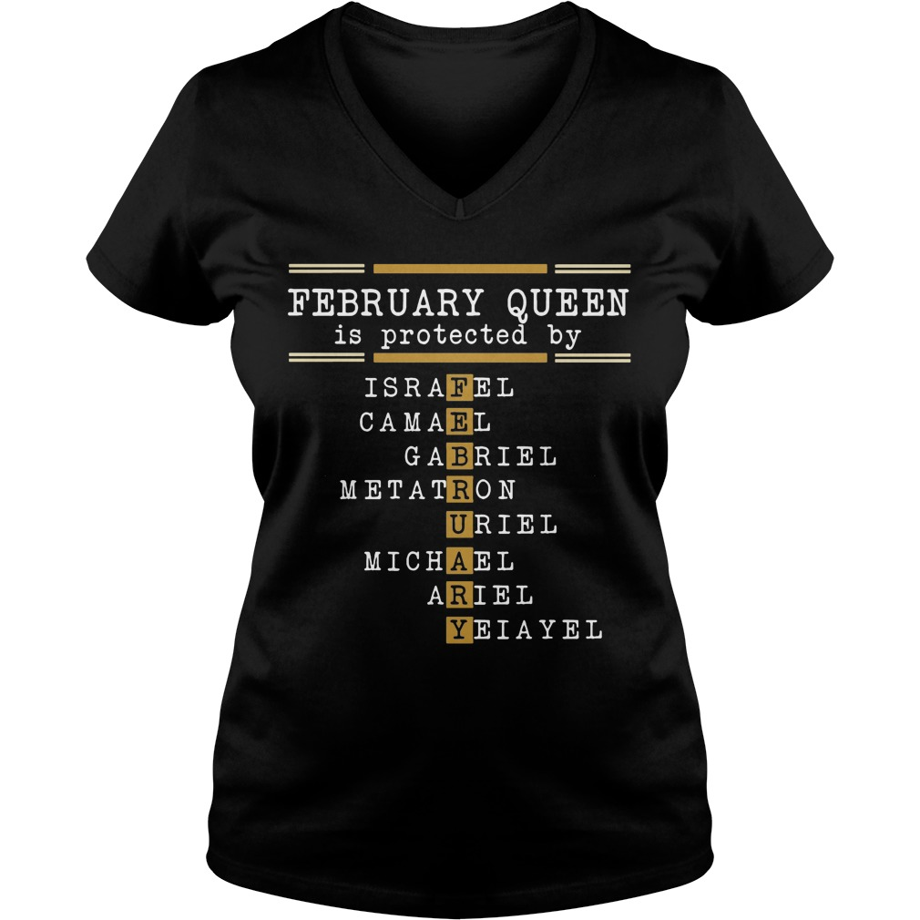 February Queen Is Protected By V Neck