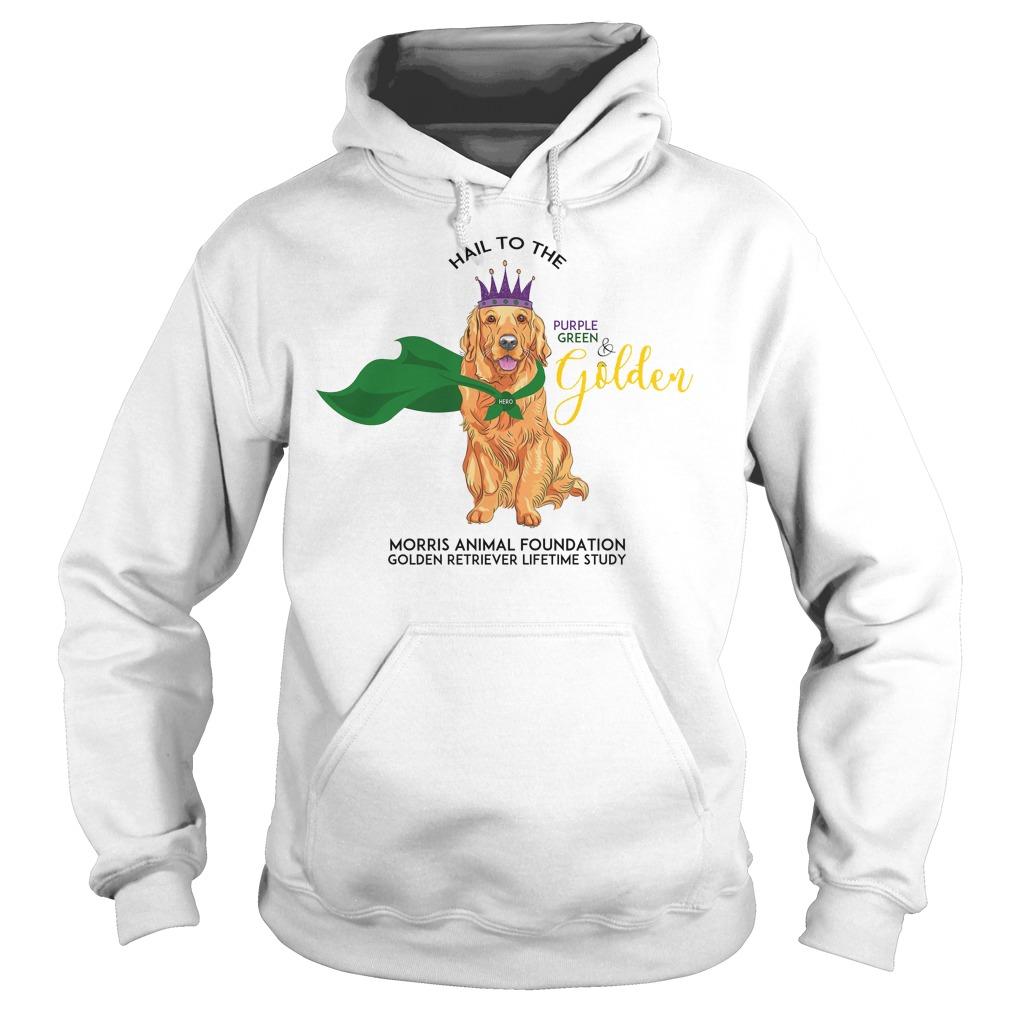 Grls Mardi Paws Hail To The Purple Green & Golden Hoodie
