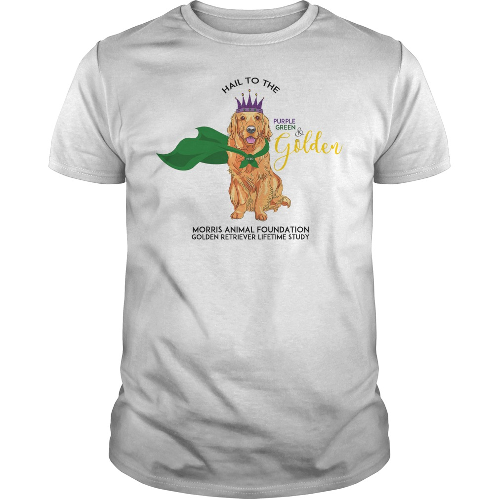 Grls Mardi Paws Hail To The Purple Green & Golden Shirt