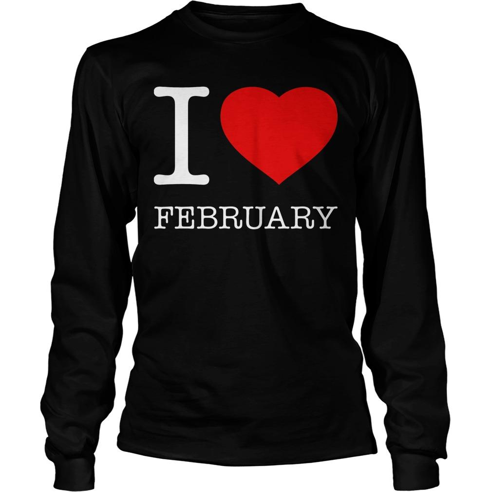 I Love February Longsleeve