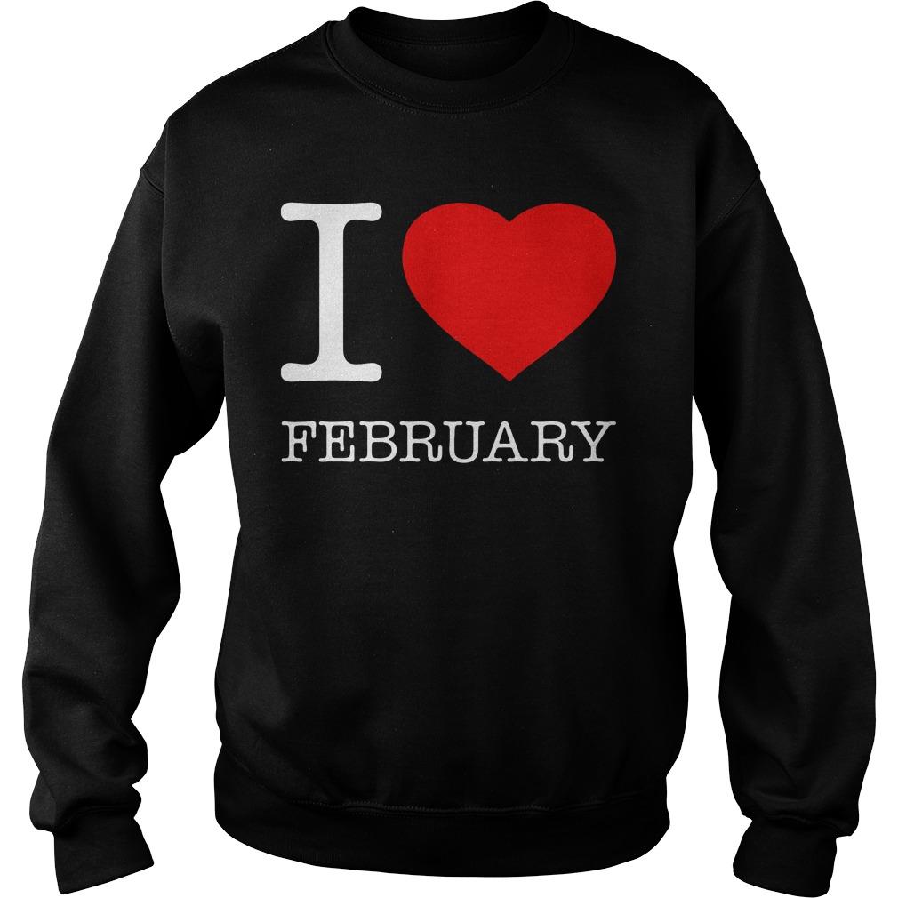 I Love February Sweater