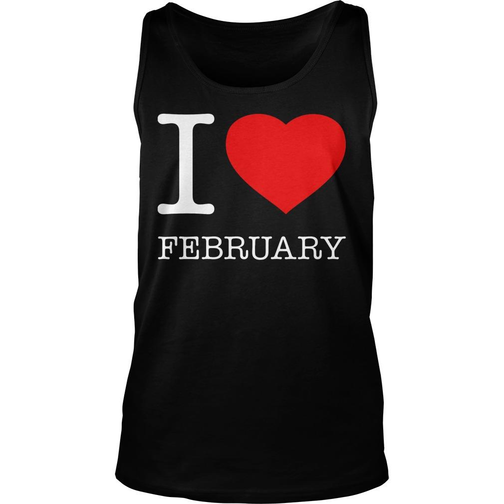 I Love February Tanktop