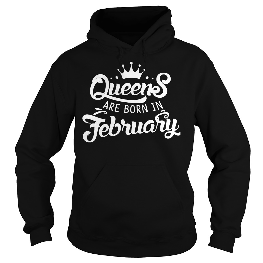Lovely Queens Are Born In February Hoodie