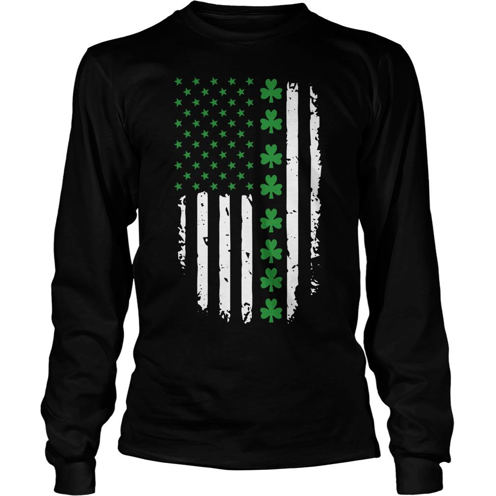 St Patricks Day Irish American Flag Longsleeve
