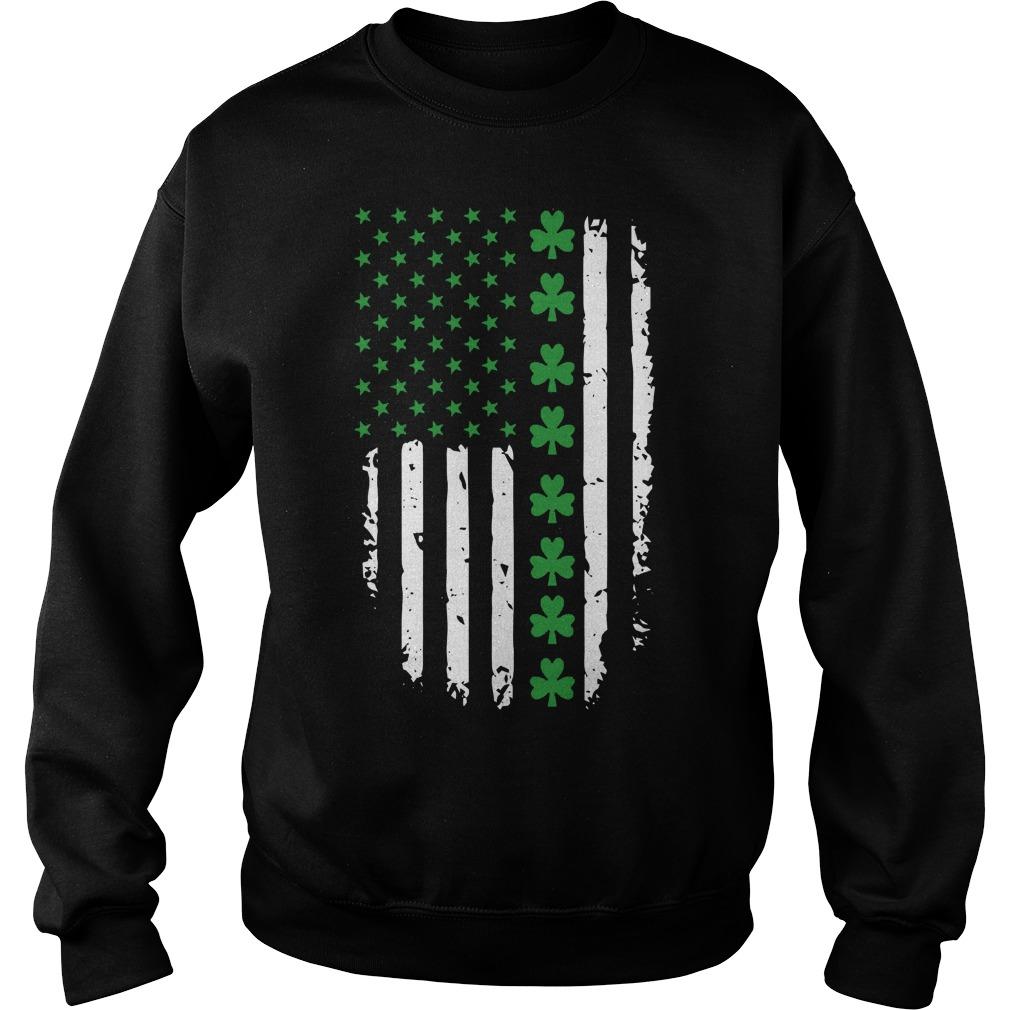 St Patricks Day Irish American Flag Sweater