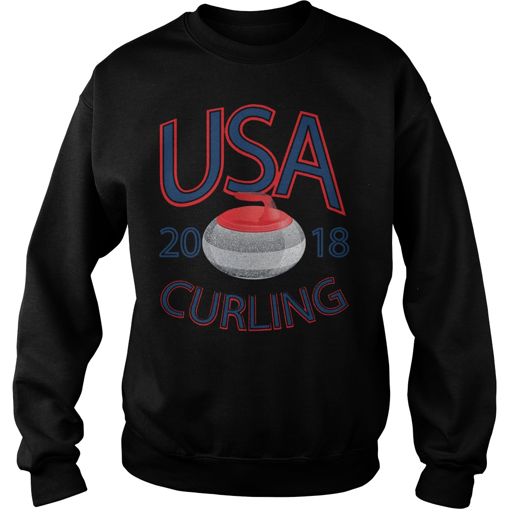 Usa Curling Winter Sports Sweater