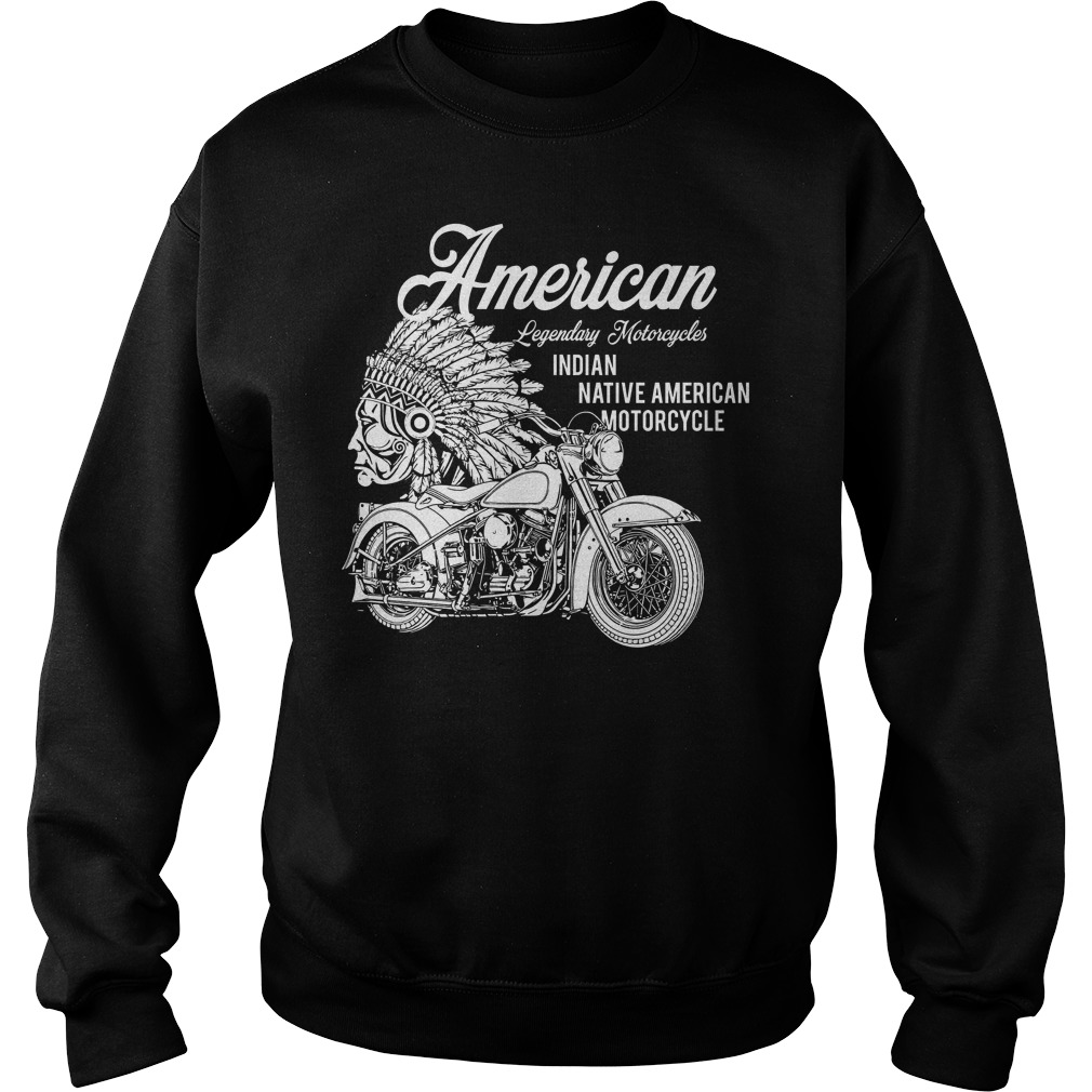 American Legendary Motorcycles Indian Native American Motorcycle Sweater