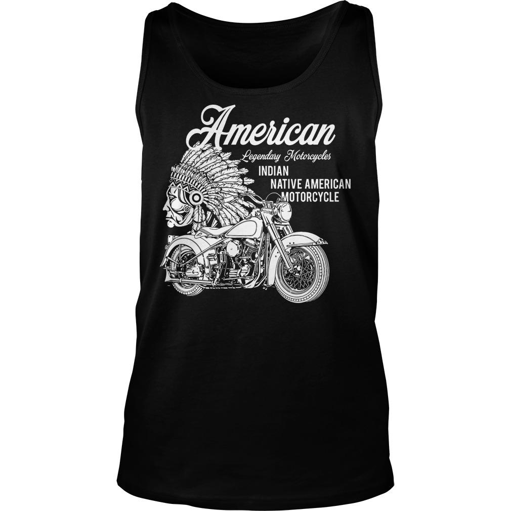 American Legendary Motorcycles Indian Native American Motorcycle Tanktop