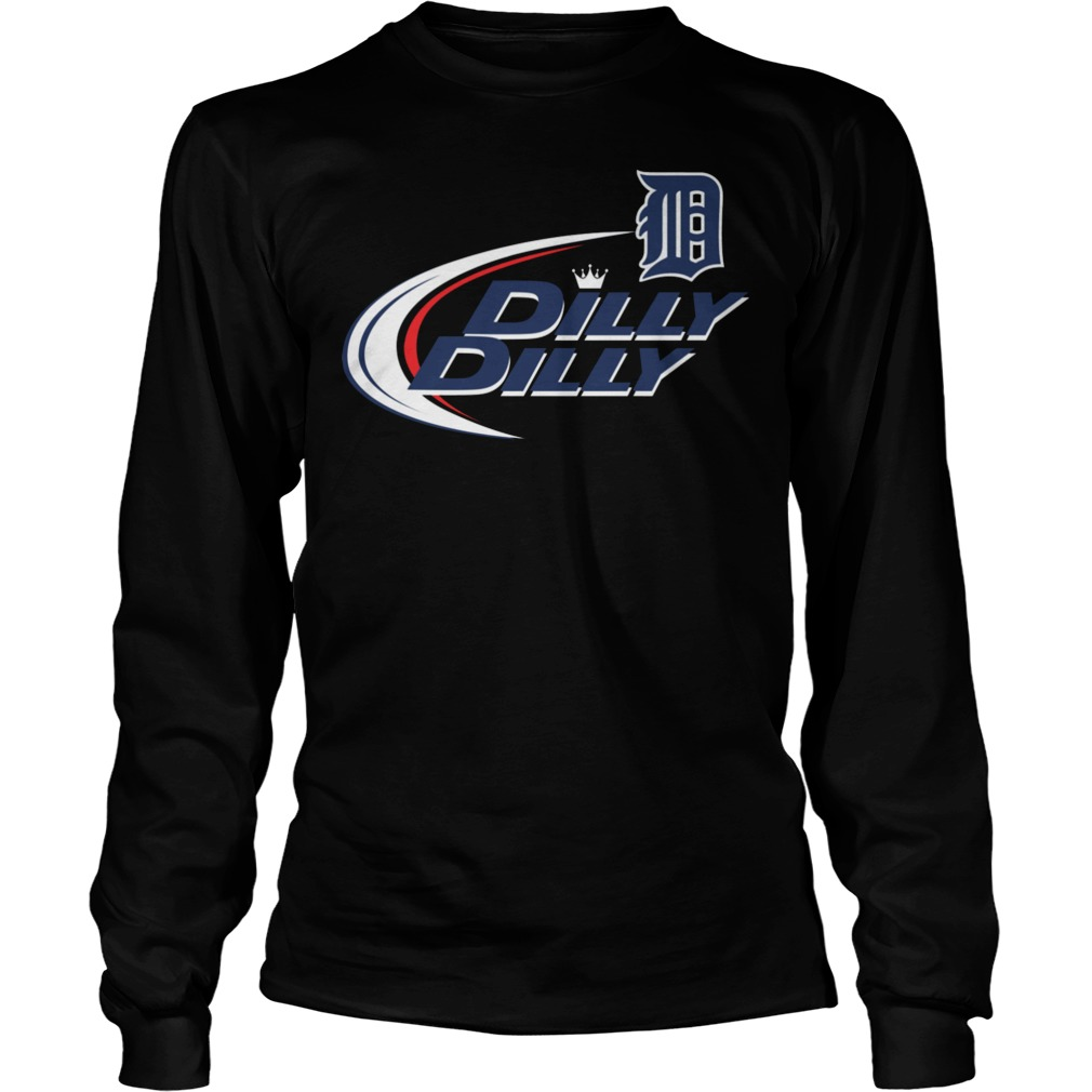 Baseball Mlb Detroit Tigers Dilly Dilly Longsleeve