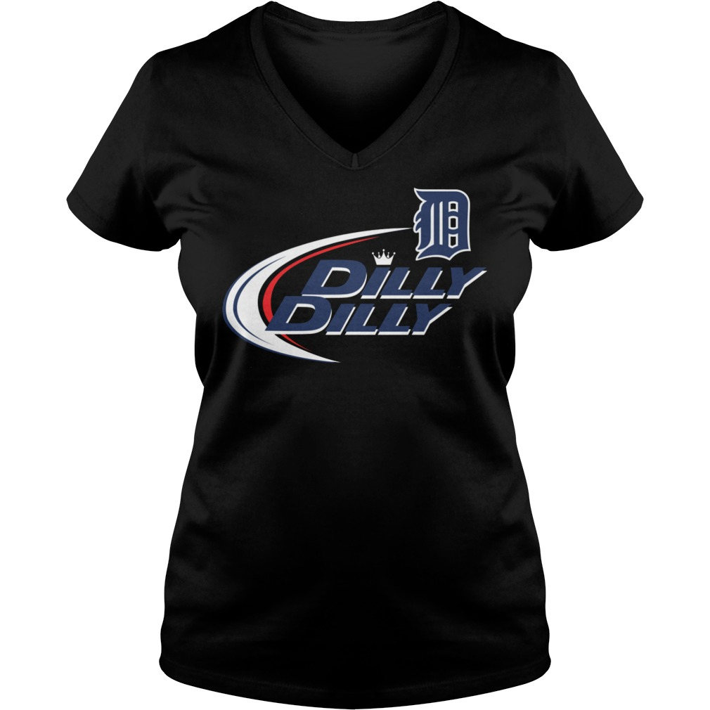 Baseball Mlb Detroit Tigers Dilly Dilly V Neck