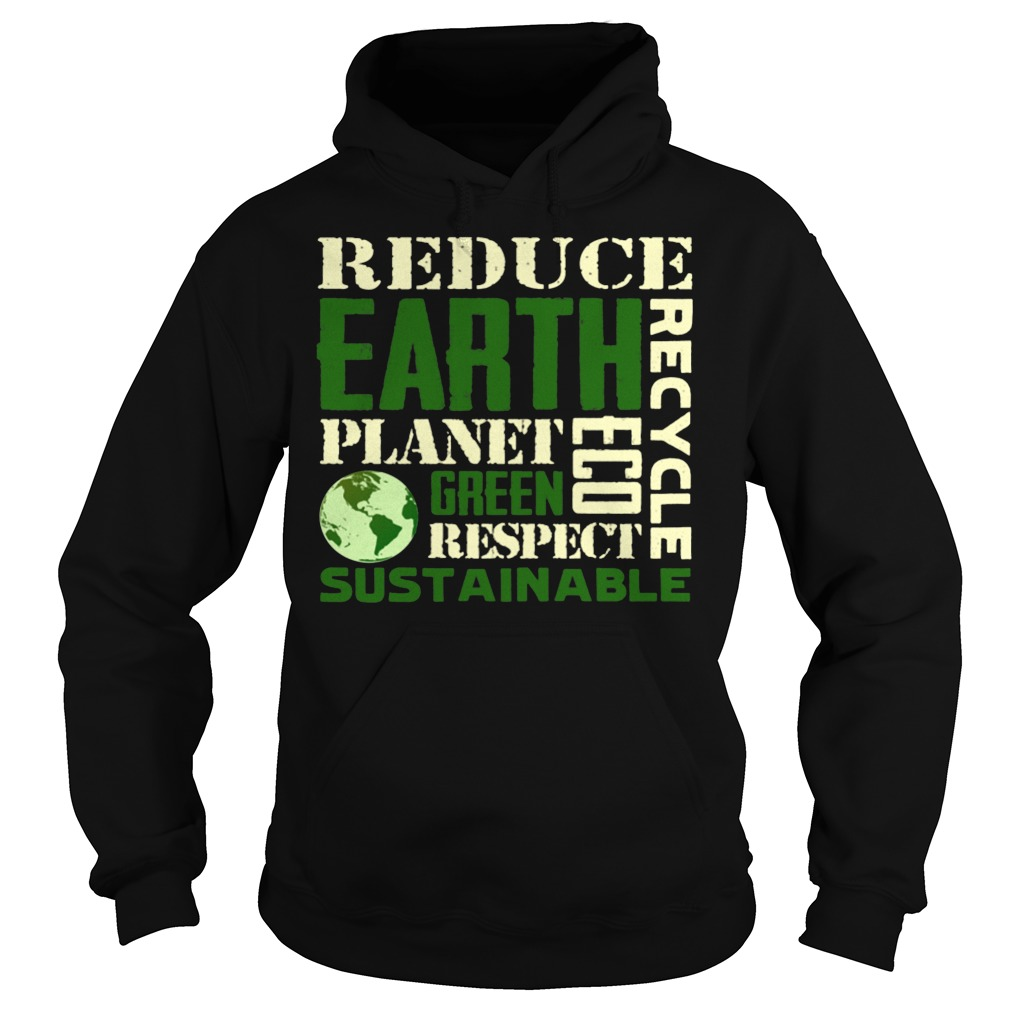 Earth Day Green Sustainable Hoodie