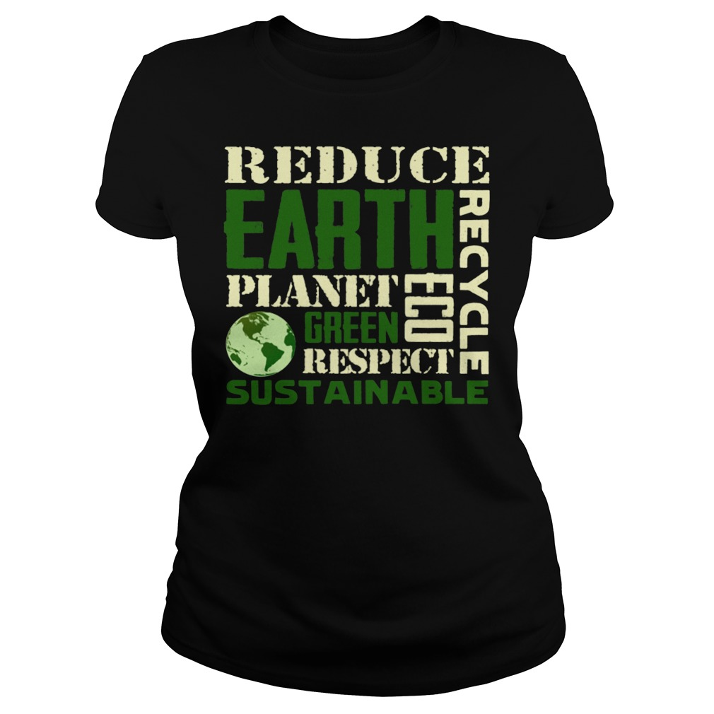 Earth Day Green Sustainable Ladies