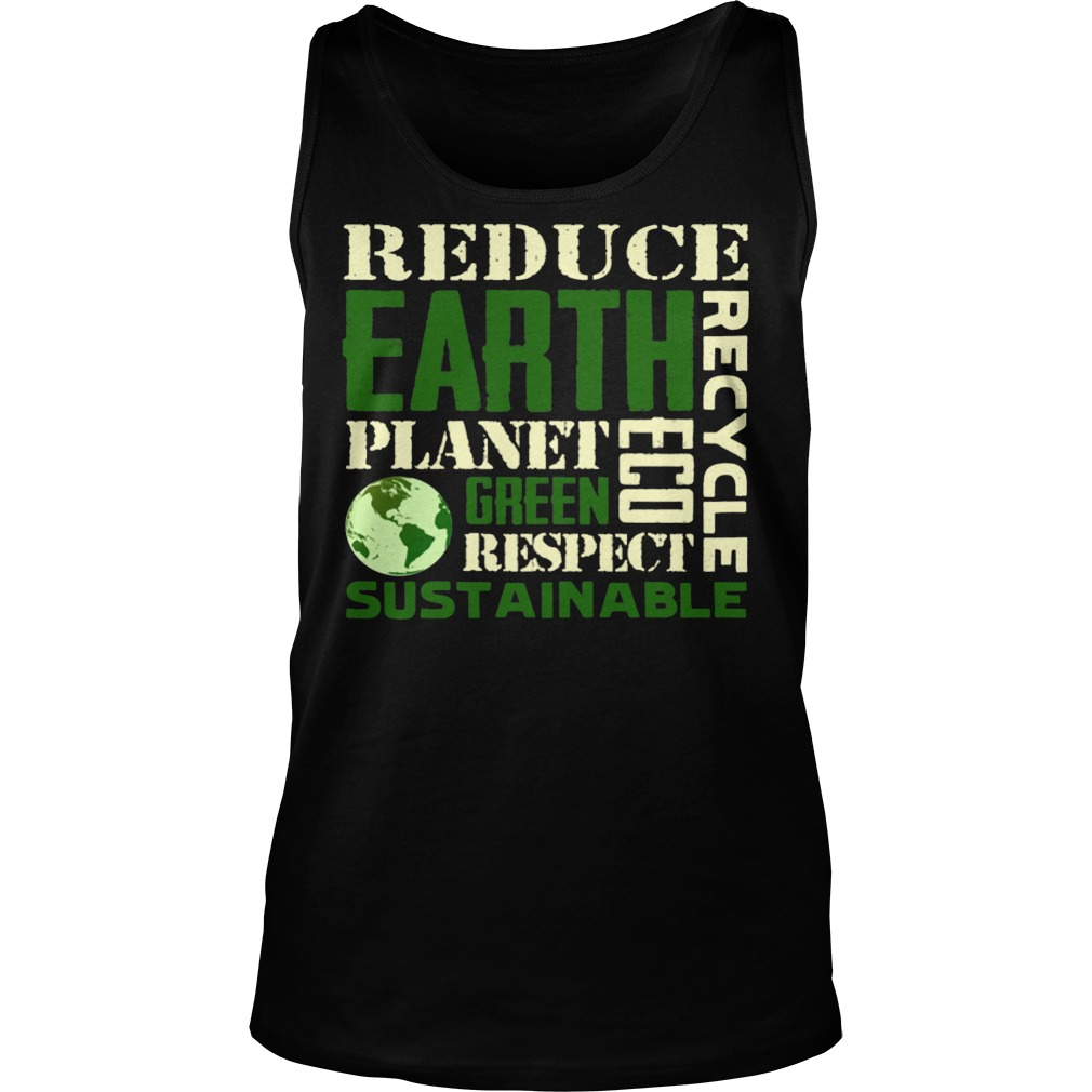 Earth Day Green Sustainable Tanktop