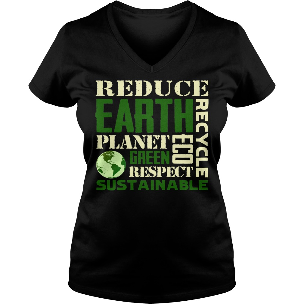 Earth Day Green Sustainable V Neck