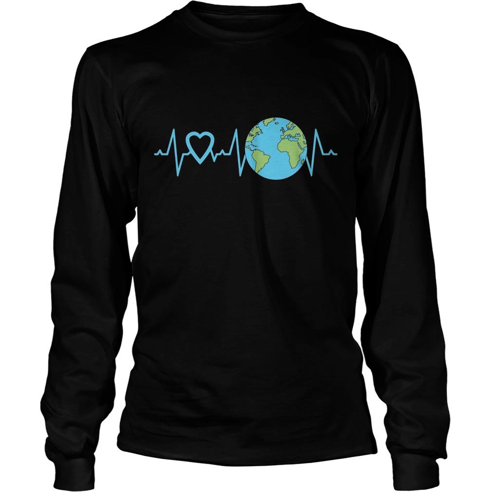 Earth Day Heartbeat Longsleeve