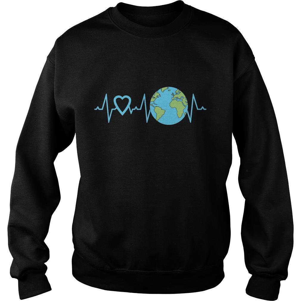 Earth Day Heartbeat Sweater