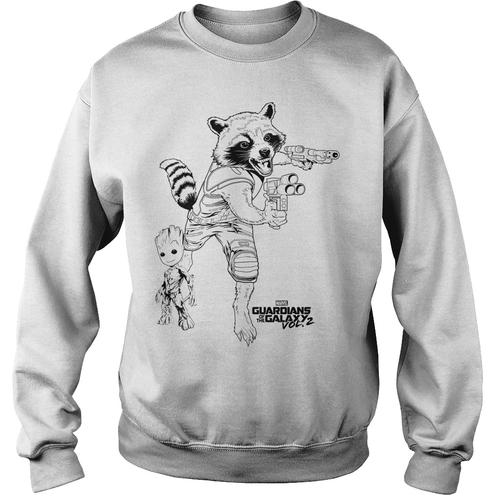 Guardians Of The Galaxy 2 Rocket Raccoon And Groot Baby Best Friend Sweater