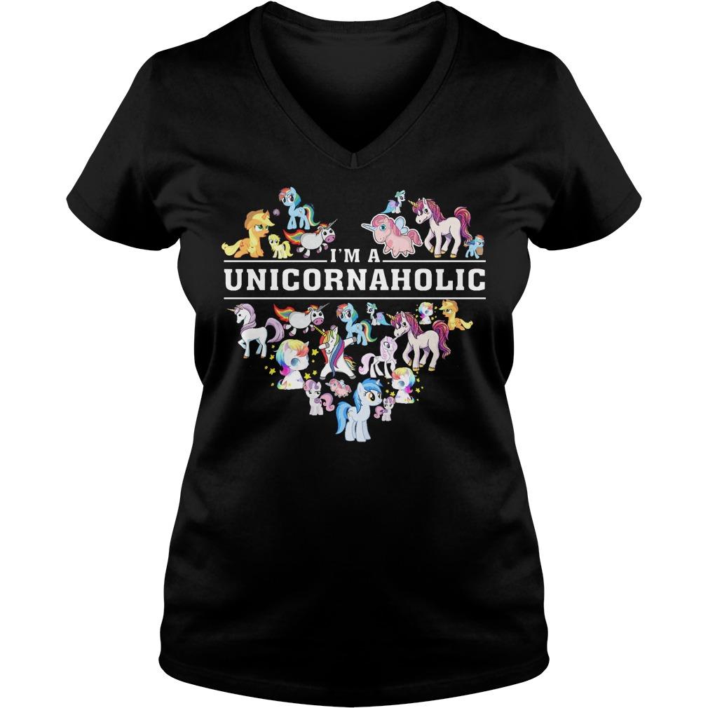 Im A Unicornaholic V Neck