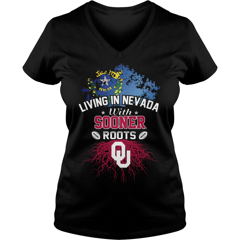 Living In Nevada With Sooners Roots V Neck