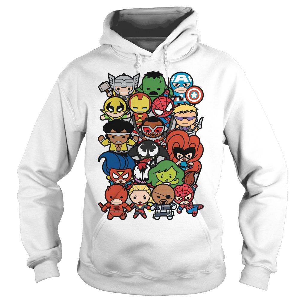 Marvel Heroes And Villains Team Kawaii Graphic Hoodie