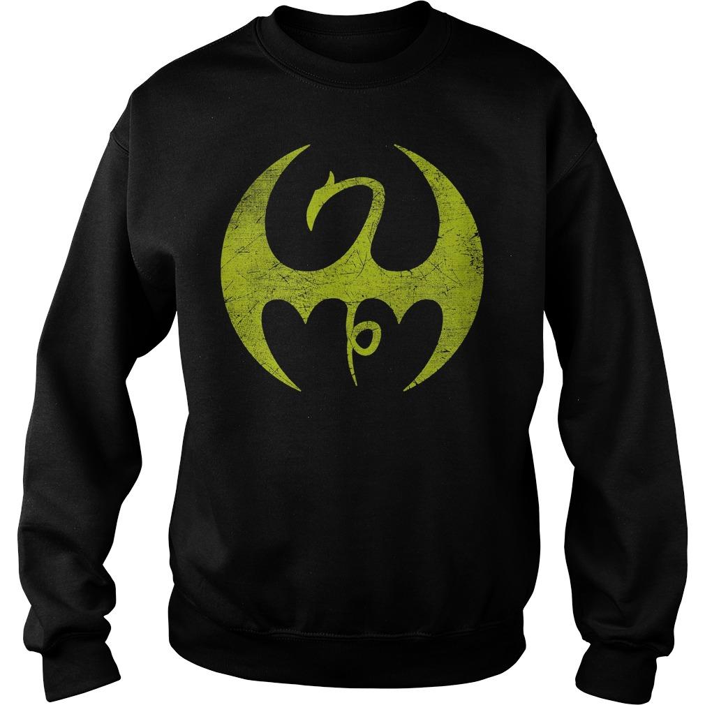 Marvel Iron Fist Distressed Dragon Logo Sweater