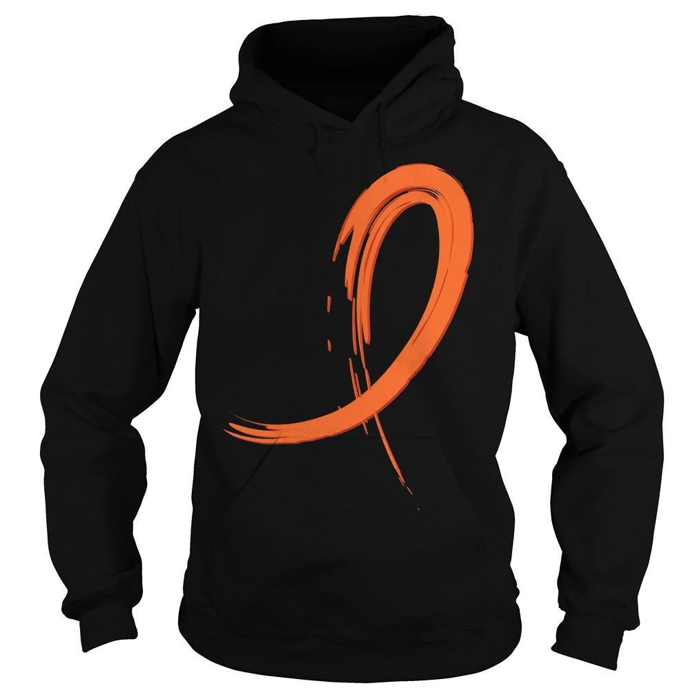 Multiple Sclerosis Orange Graffiti Ribbon Hoodie