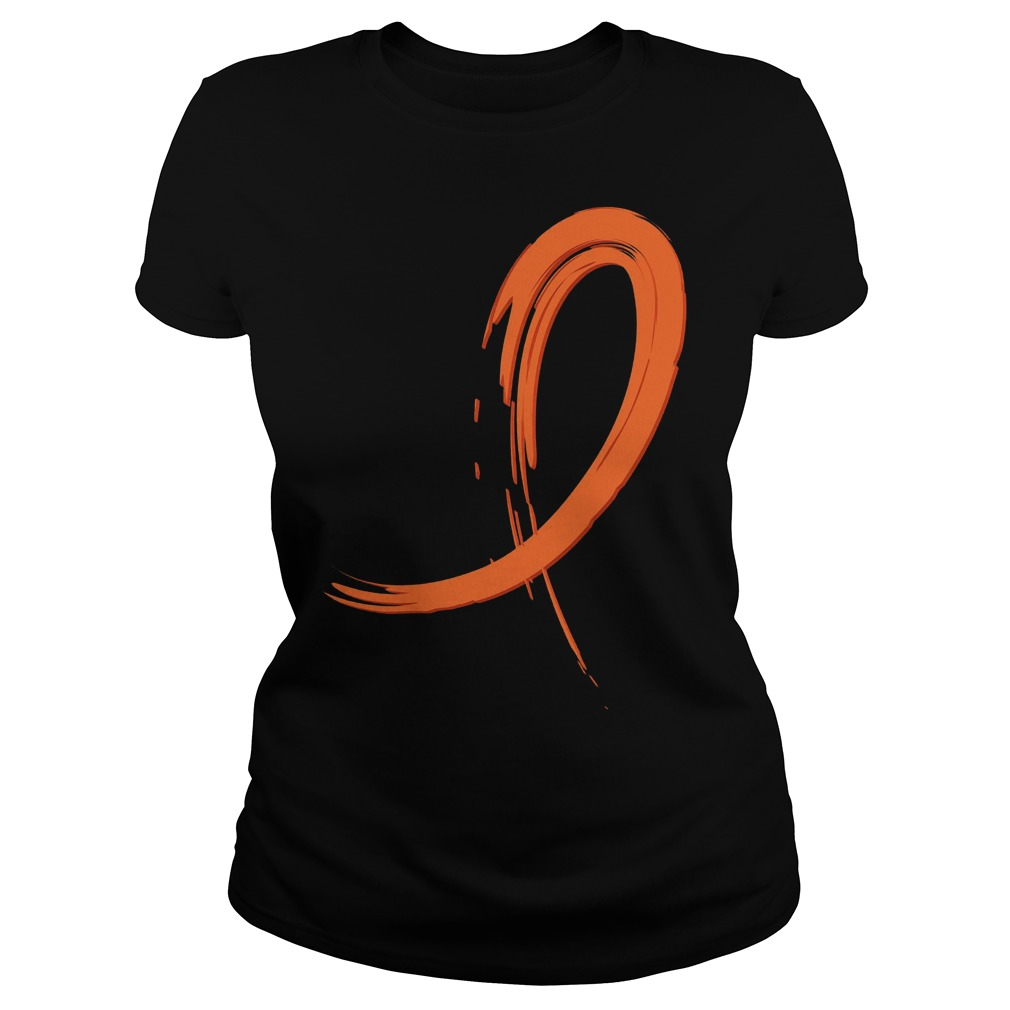 Multiple Sclerosis Orange Graffiti Ribbon Ladies