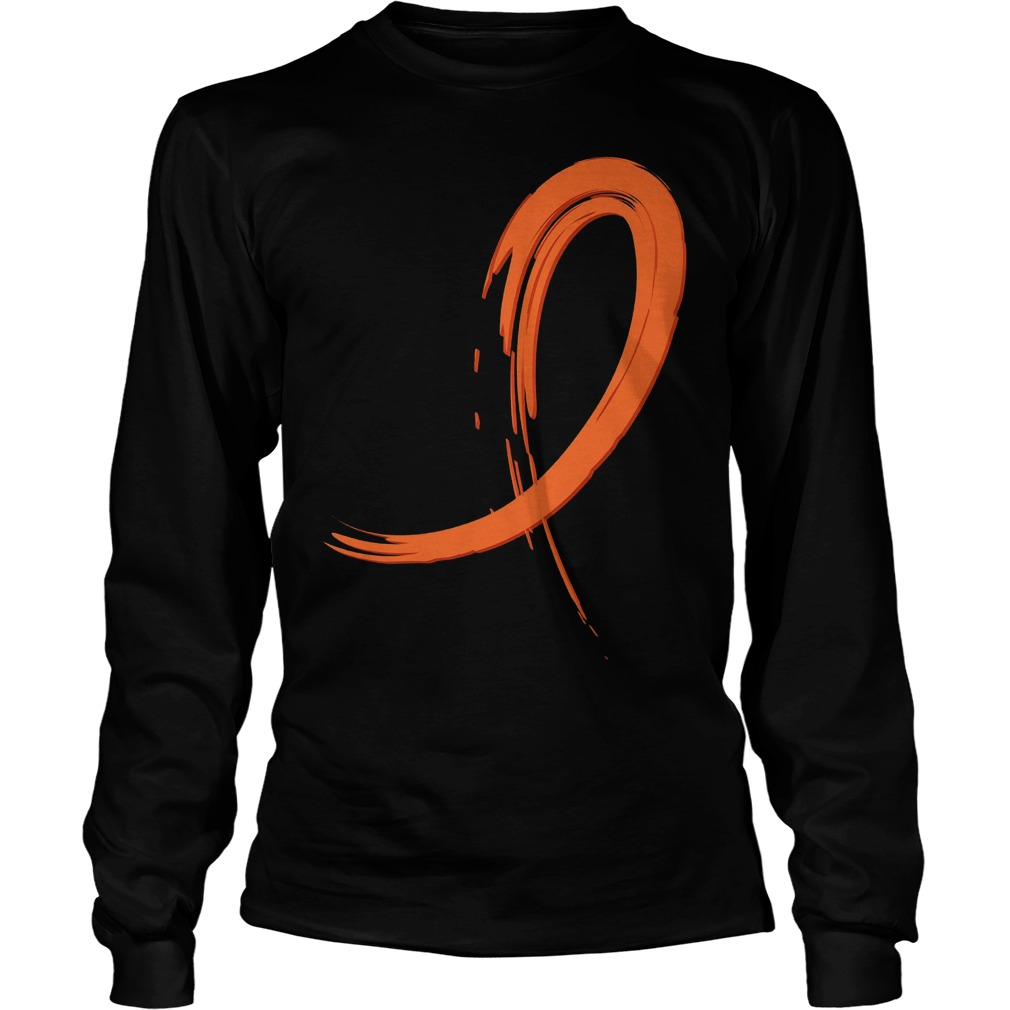Multiple Sclerosis Orange Graffiti Ribbon Longsleeve