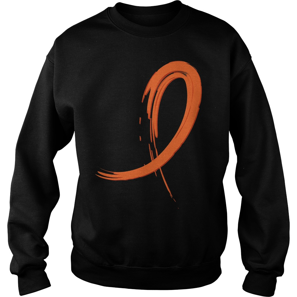 Multiple Sclerosis Orange Graffiti Ribbon Sweater