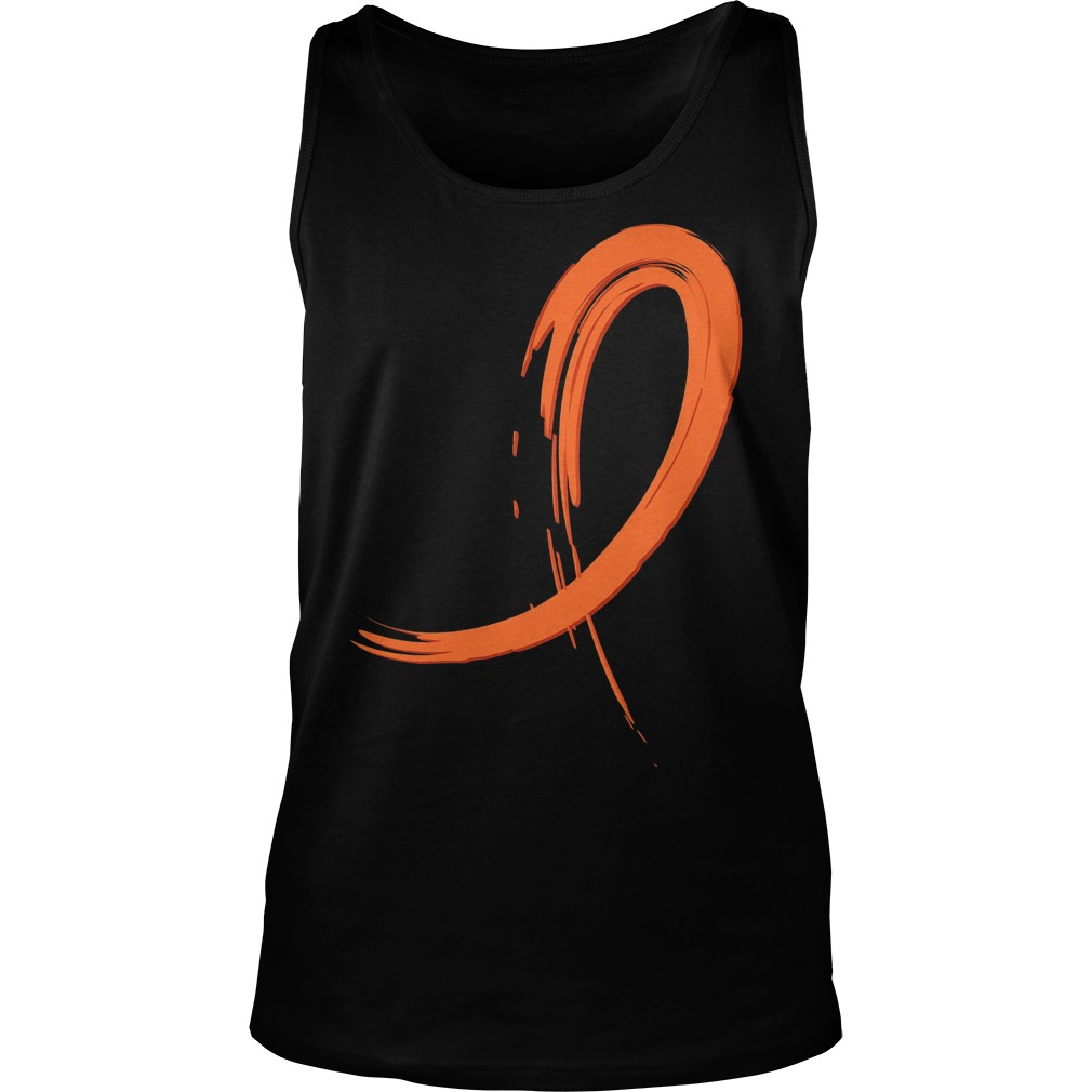 Multiple Sclerosis Orange Graffiti Ribbon Tanktop