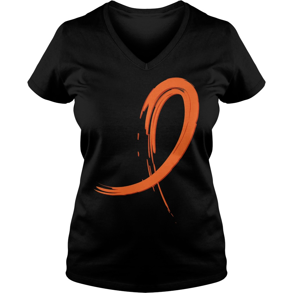 Multiple Sclerosis Orange Graffiti Ribbon V Neck