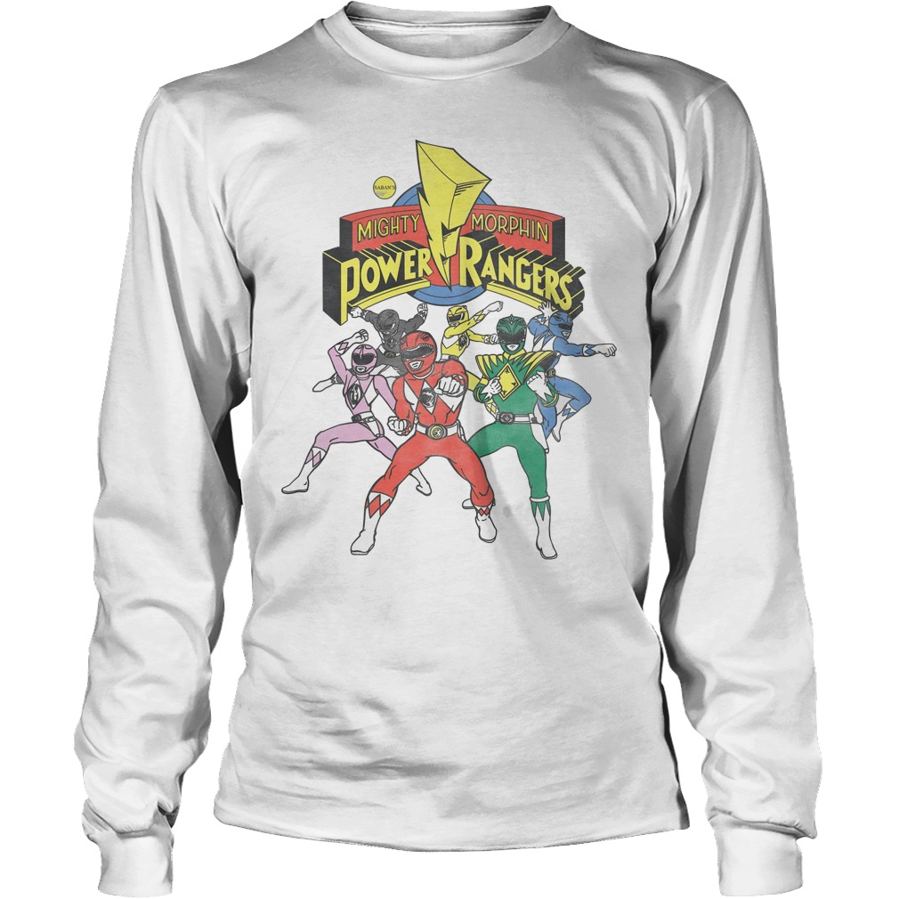 Retro Power Rangers Morphin Time Longsleeve