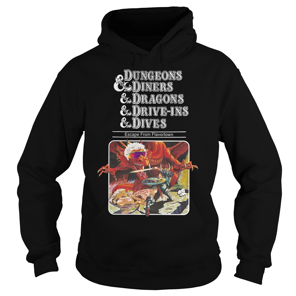 Slightly Larger Dungeons Diners Dragons Drive Ins Dives Hoodie