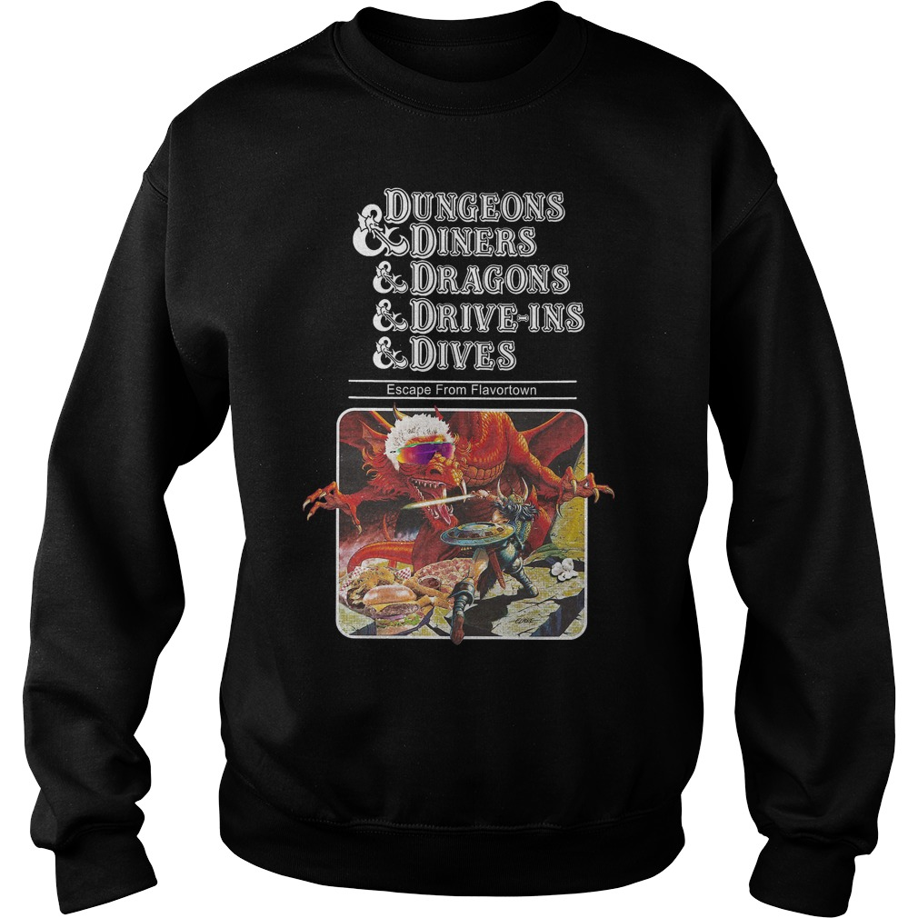 Slightly Larger Dungeons Diners Dragons Drive Ins Dives Sweater