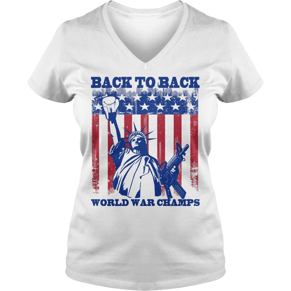 Back To Back World War Champs V Neck