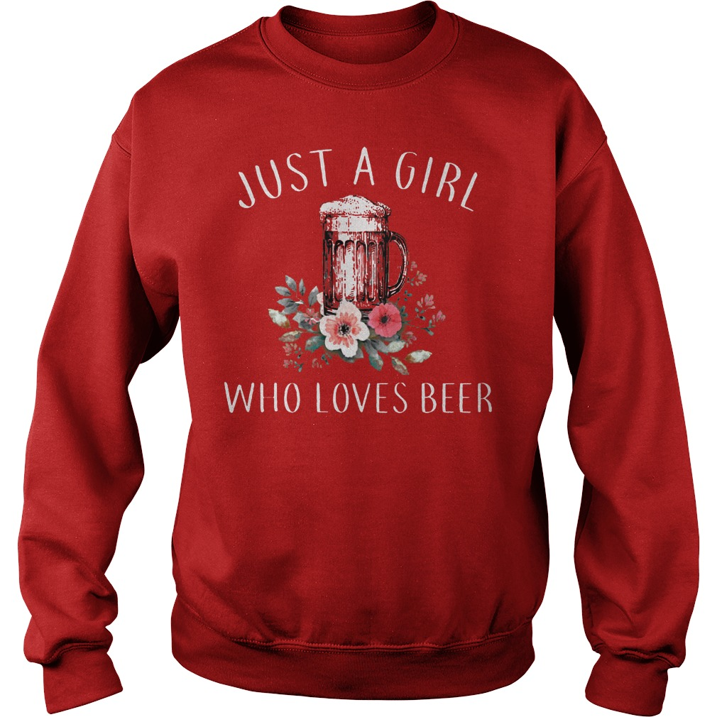 Just A Girl Who Love Beer Sweater