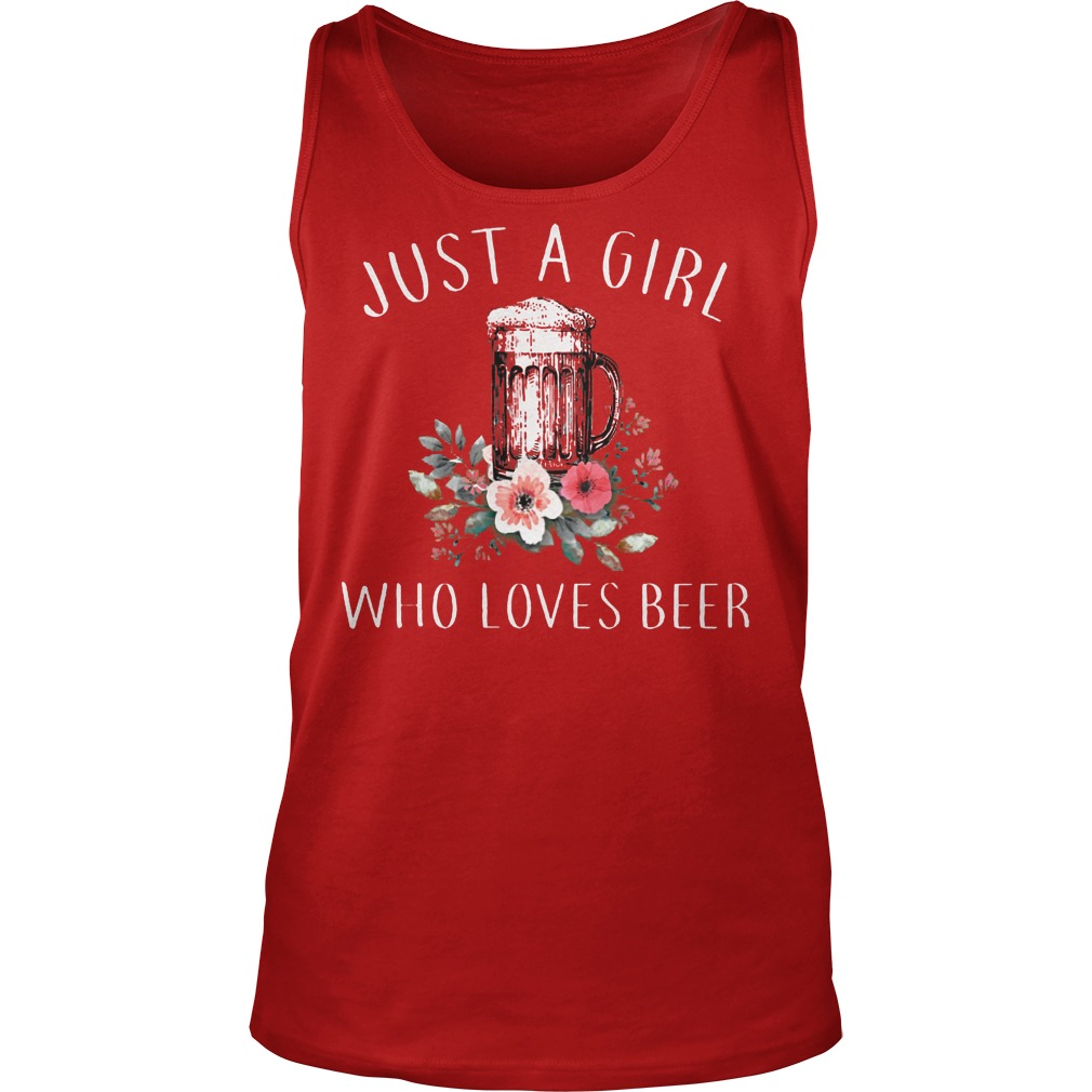 Just A Girl Who Love Beer Tanktop